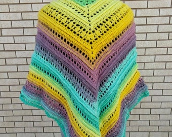 Valkyrie -  Crocheted Shawl in Pastels
