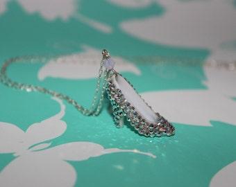Cinderella Necklace - Crystal Doll Shoe Necklace