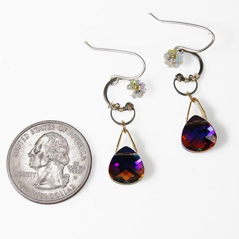 Swarovski Earrings Volcano Crystal Bridal Earrings Cubic