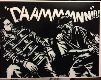 8.5x11 Friday Stencil Art Print
