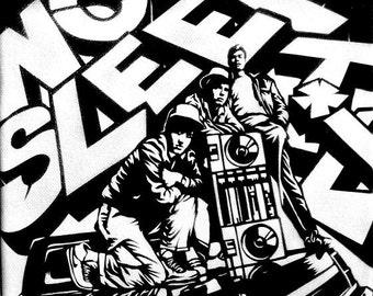 Beastie Boys (No Sleep Til Brooklyn) 8.5x8.5 Stencil Art Print