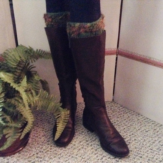 39908c88b1a Green Boot Cuffs/Boot Cuffs/Boot Leg Warmer/Green Boot Toppers/Gift for  Her/Boho Boot Cuffs/Rustic Boot Cuffs/Magical Forest Boot Cuffs