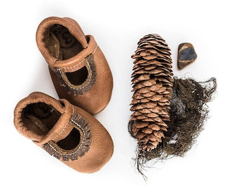 Tribe Mary Jane Moccs Soft Soled Leather Shoes Baby and Toddler// Starry Knight Design