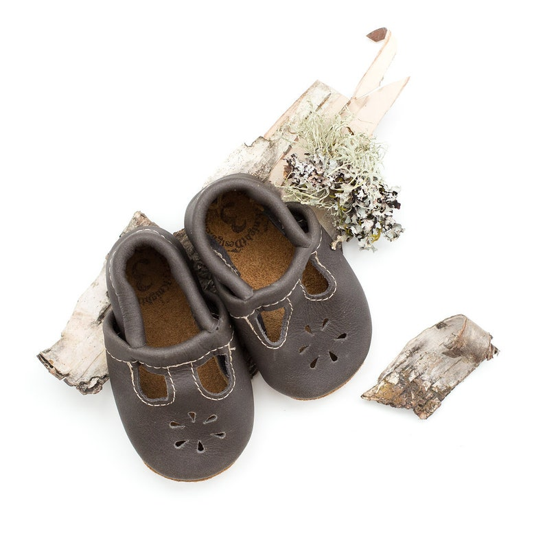 867f7a15efba5 Iron T-STRAPS Soft Soled Leather Shoes Baby and Toddler // Starry Knight  Design