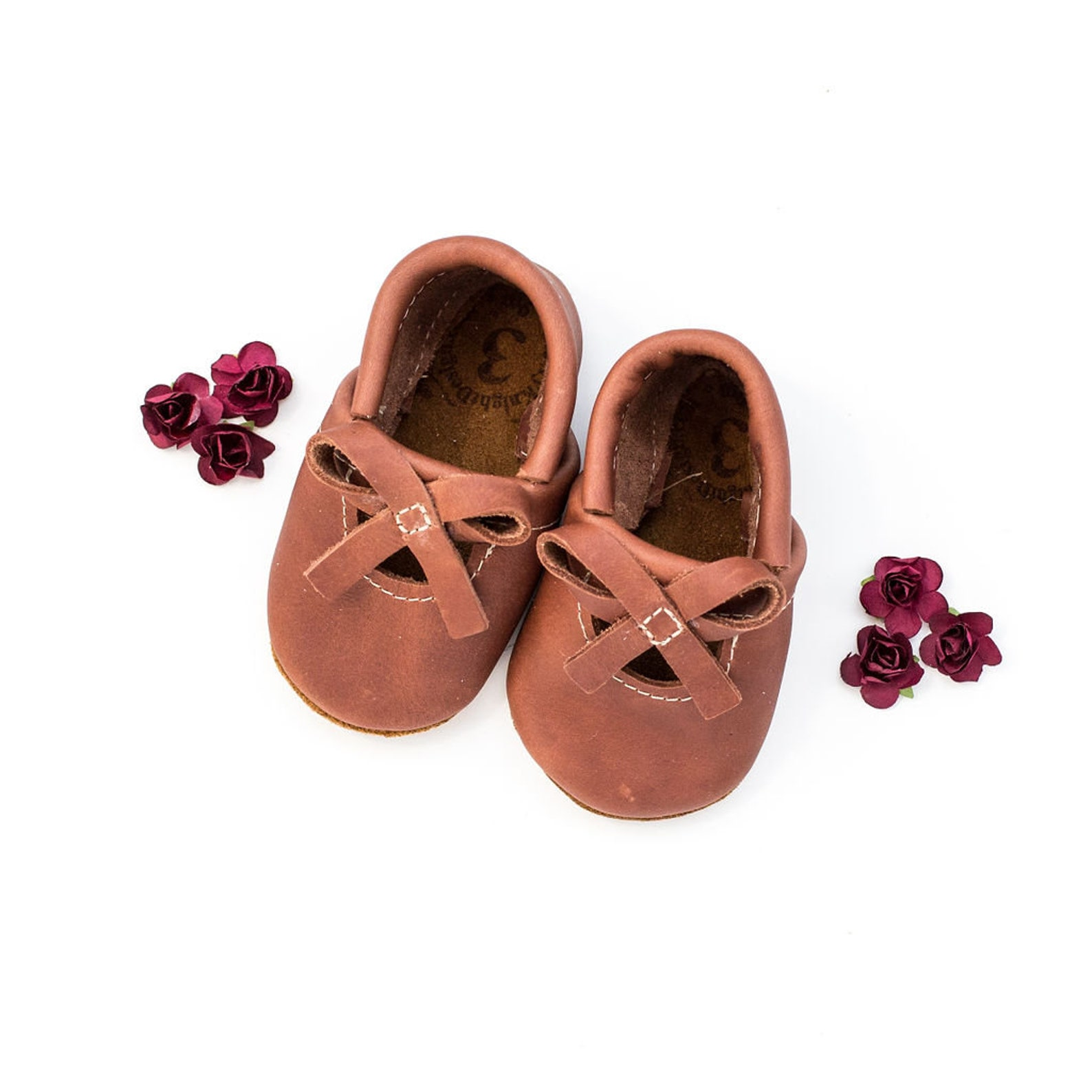 cedar ballet bow flats soft soled leather shoes baby and toddler //free shipping in usa// starry knight design