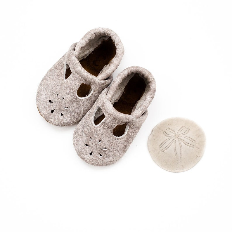 453258d30934a Ash T-STRAPS Soft Soled Leather Shoes Baby and Toddler // Starry Knight  Design