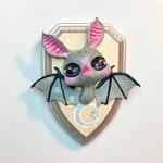 Moon Bat Miniature Faux Taxidermy Talisman