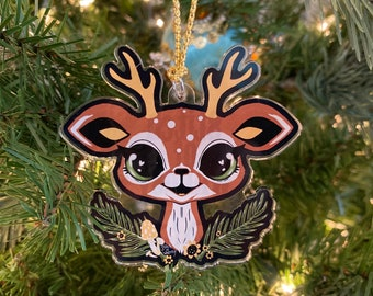 Whimsy Deer Holiday Ornament