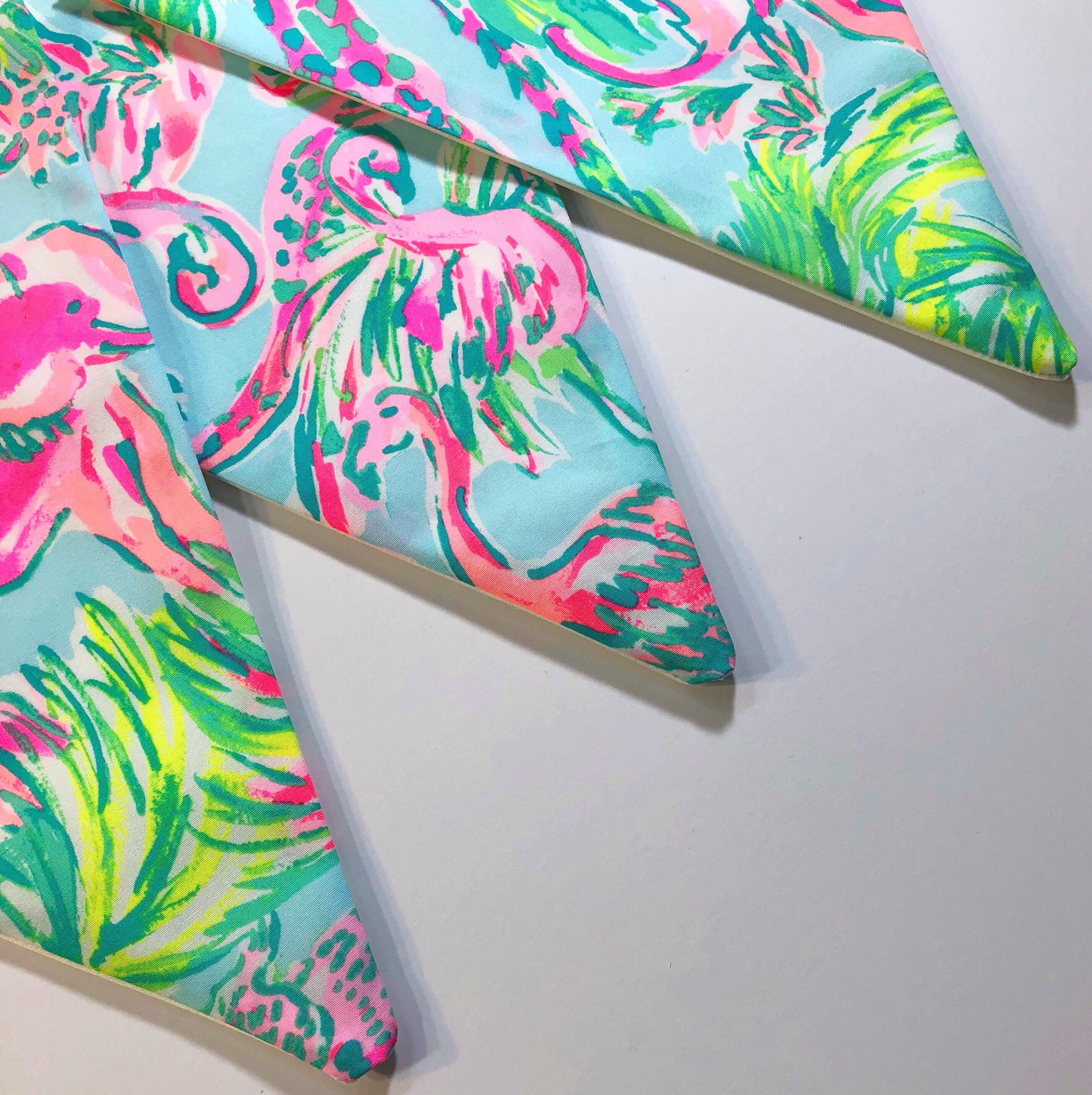Custom Flag Banner, Bunting Made With Lilly Pulitzer On Parade Print Fabric