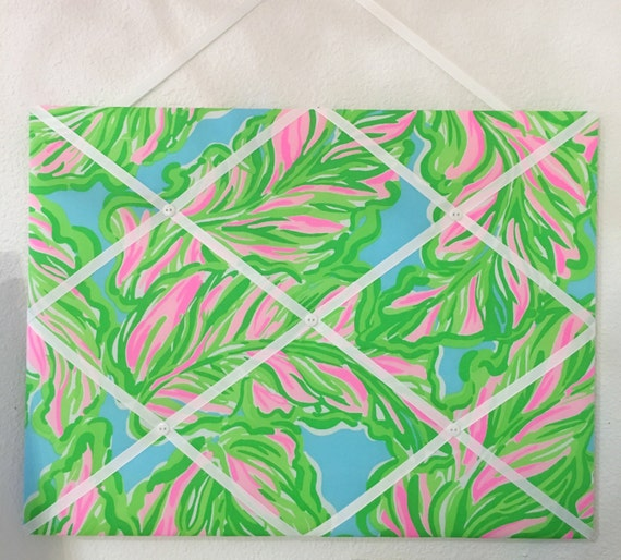 New Memo Board Made With Lilly Pulitzer In The Bungalows Etsy Custom Lilly Pulitzer Memo Board