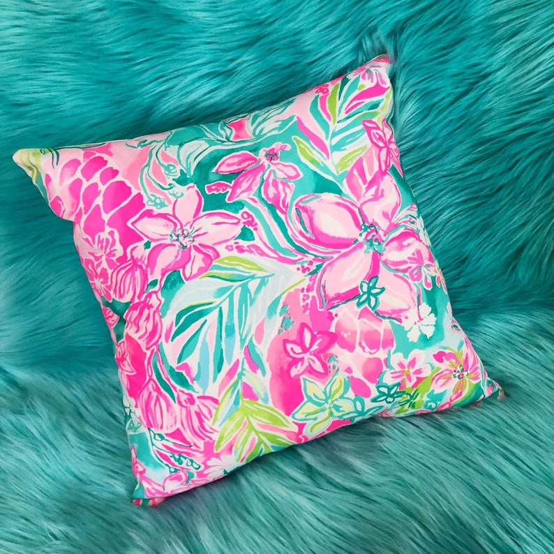 727f7c19b3e5a3 New Pillow made with Lilly Pulitzer Hot On the Scene fabric 3 | Etsy