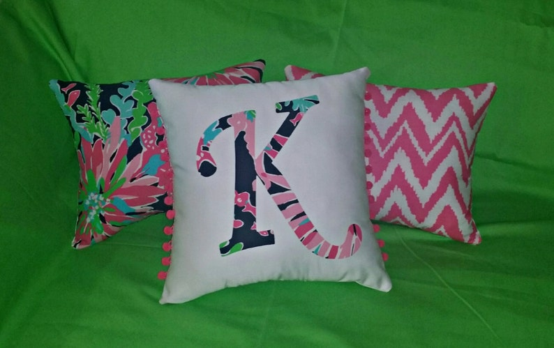ee1f7c9efdf650 New Initial pillow Made AUTHENTIC LILLY PULITZER Sippin and | Etsy