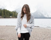 Crochet Pattern - Chunky Oversized Cardigan, Sweater, Shrug, Kimono - The Oomingmak Cardigan