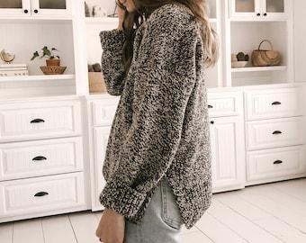 Knitting Pattern - Knit Sweater, Classic Knitting Pattern - The Lodge Sweater