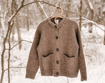 Knitting Pattern - Knit Sweater Cardigan, Classic Knitting Pattern, Knit Cardigan Pattern - Natures Cardigan Jacket