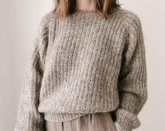 Knitting Pattern - Knit Sweater, Classic Knitting Pattern - The Seasons Sweater