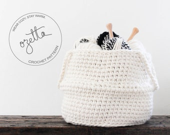 Crochet Pattern - Belly Basket, Chunky Crochet Storage Basket, Nursery Room Organization, Home Decor - The Selawik Basket