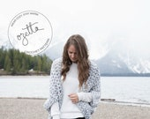 Crochet Pattern - Chunky Oversized Cardigan, Sweater, Shrug, Kimono - The Oomingmak Cardigan