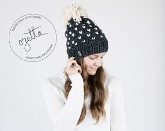 Knitting Pattern - Fair Isle Knit Hat With Pom Pom - The Alpine Hat