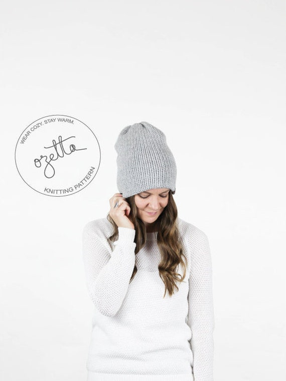 Knitting Pattern Simple Knit Hat Double Layer Hat The   Etsy