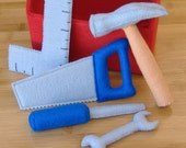 Tool Box and Tool Set Felt Toy PDF Pattern (Hammer, screwdriver, saw, square, wrench)
