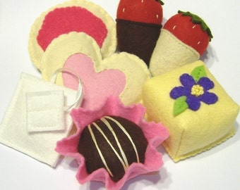 Tea Party Sweets PDF Felt Food Pattern