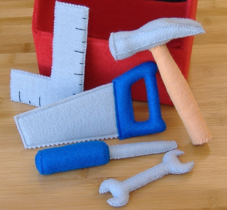 Tool Box and Tool Set Felt Toy PDF Pattern Hammer image 0