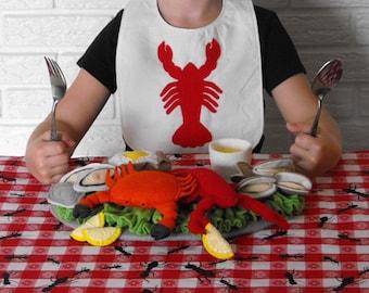 Lobster Crab Seafood Felt Food Pattern PDF