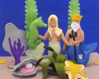 NEW - Under Sea Adventure Tote PDF Pattern (Mermaid, Neptune and Accessories)