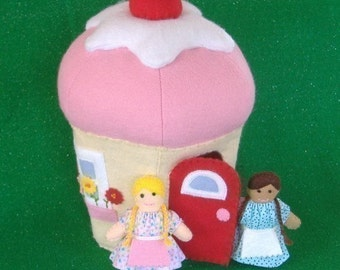 Cupcake Cottage and Little Girl Dolls PDF Pattern