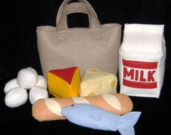 SUPER Market Tote with Groceries PDF Pattern