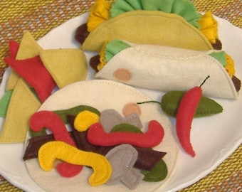 Taco Time Mexican Combo Meal PDF Felt Food Pattern