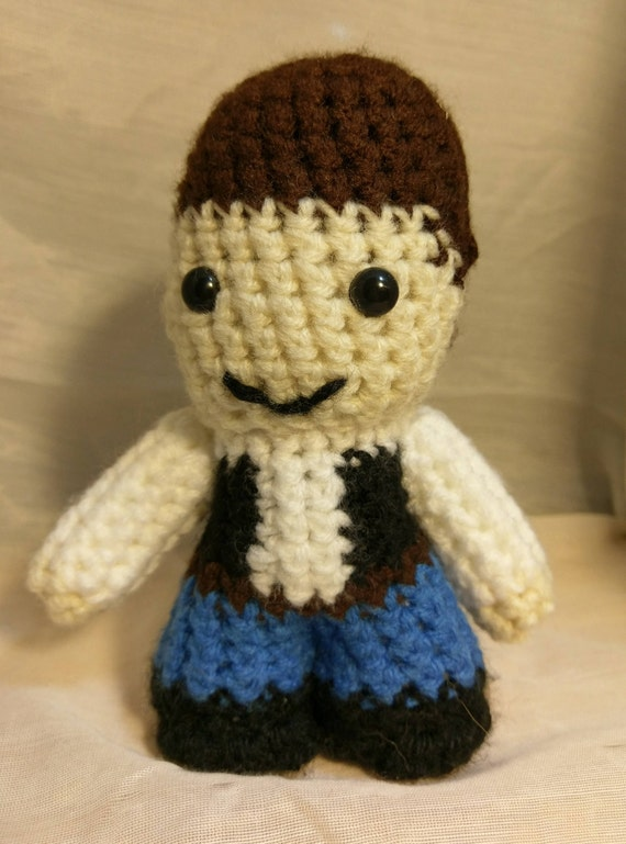 Amigurumi Häkeln Han Solo Star Wars Inspiriert Spielzeugpuppe Etsy