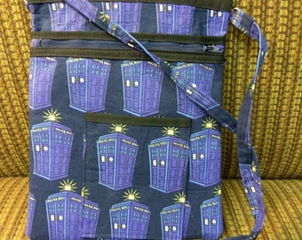 Doctor Who Inspired Tardis/Police Box Cross Body Bag/Purse