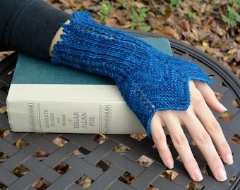 Knitting Pattern - Edgar Gauntlets (fingerless mitts)