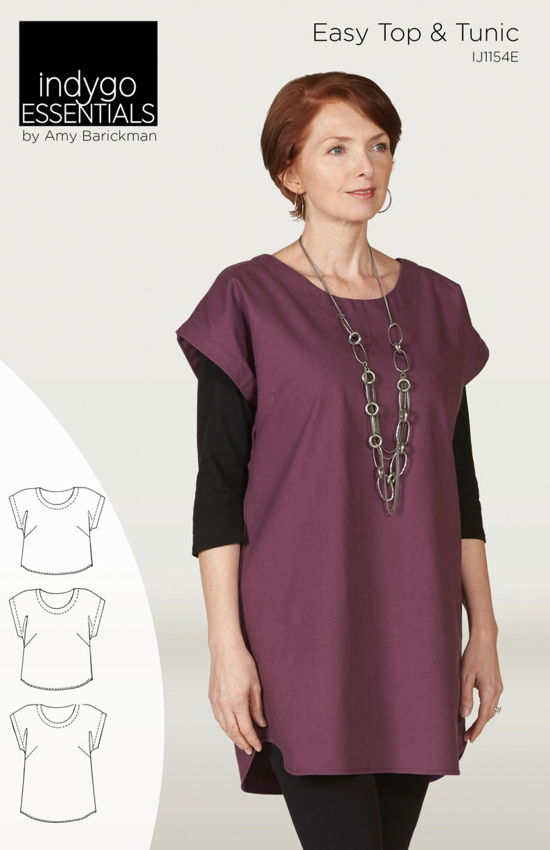 a4de63423a Indygo Essentials Easy Top   Tunic PDF sewing epattern
