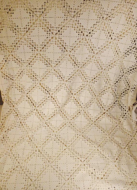 COLCHA de encaje vintage sabanas crochet calados de arte | Etsy