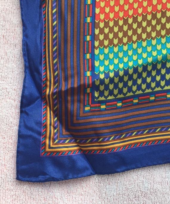 KENZO Designer, SCARF LONG Silk scarf 1970s mint,… - image 9