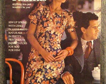 Vintage VOGUE, Pattern International Book, Fashion, FEBUARY MARCH 1973. Rare Colorful great Condition, Spring