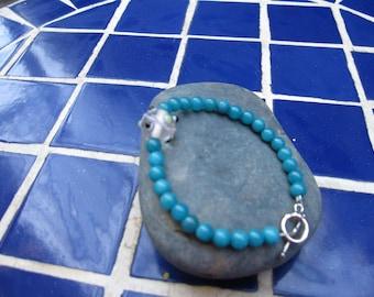 Dyed jade bracelet
