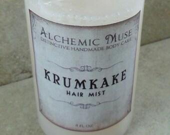 Krumkake - Hair Mist - Detangler & Styling Primer - Gingerbread, Spice, Cream - Holiday Fantastique