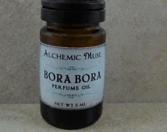 Bora Bora - Perfume Oil - Island Flowers, Fresh Lime, Tahitian Vanilla - Tropical Paradise Collection