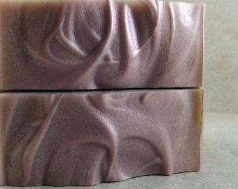 Pumpkin Lilac - Handmade Soap - Lilac Petals, Pumpkin Seeds, Amber - Pumpkinfest Collection