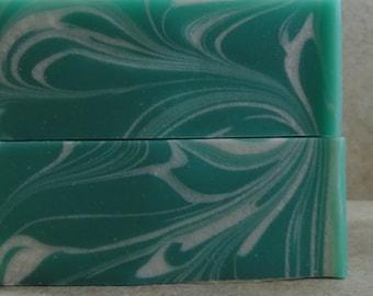 Selkie - Handmade Soap - Sea Foam Greens, Salty Air, Sun-Bleached Driftwood - Springtime Collection