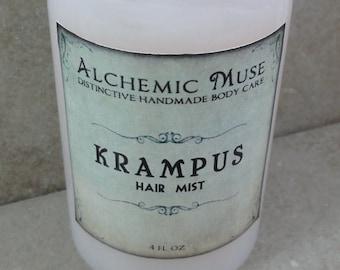 Krampus - Hair Mist - Detangler & Styling Primer - Birch Switches, Soft Spice, Caramelized Sugar - Winter