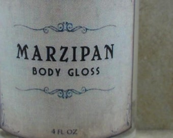 Marzipan - Body Gloss - Sweet Almond, Raw Sugar, Buttery Vanilla - - Holiday Fantastique Collection