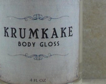 Krumkake - Body Gloss - Gingerbread, Spice, Cream - Holiday Fantastique Collection