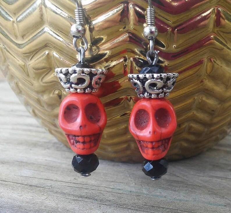 Day of the Dead Earrings Dia de los Muertos Earrings image 0