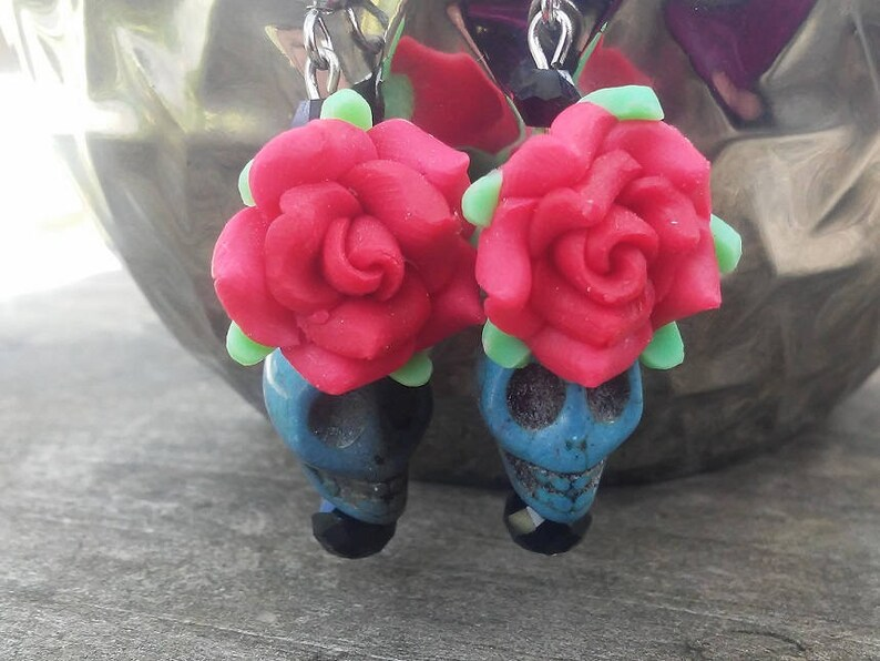 Day of the Dead Earrings Dia de los Muertos Earrings image 0