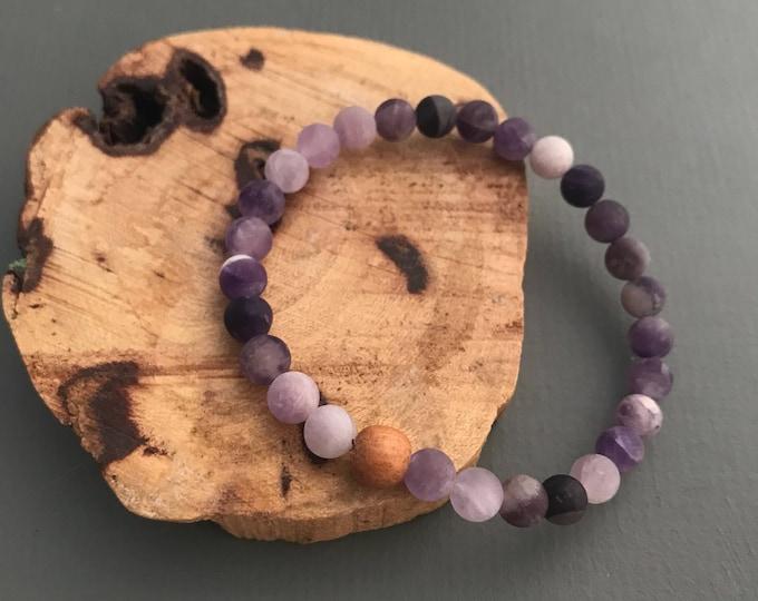 matte amethyst essential oil bracelet